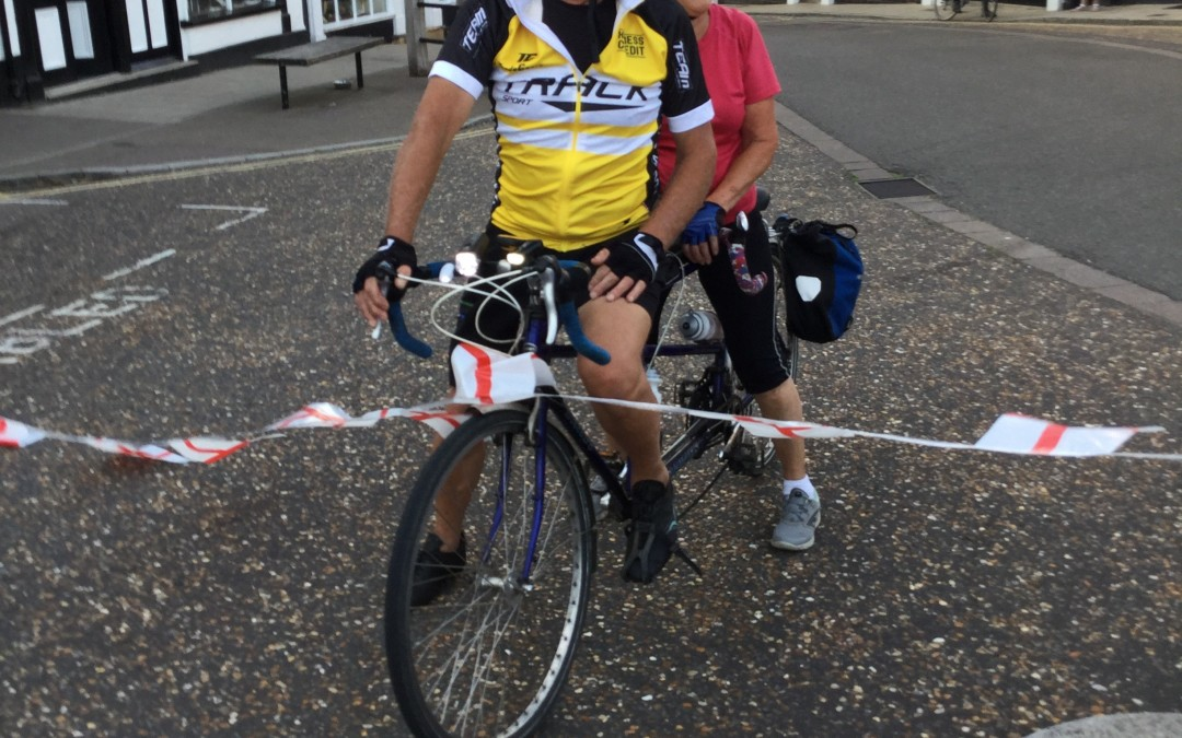 Inspirational Vic and Mary complete 100 mile Bike Ride in 9 Hours and 31C